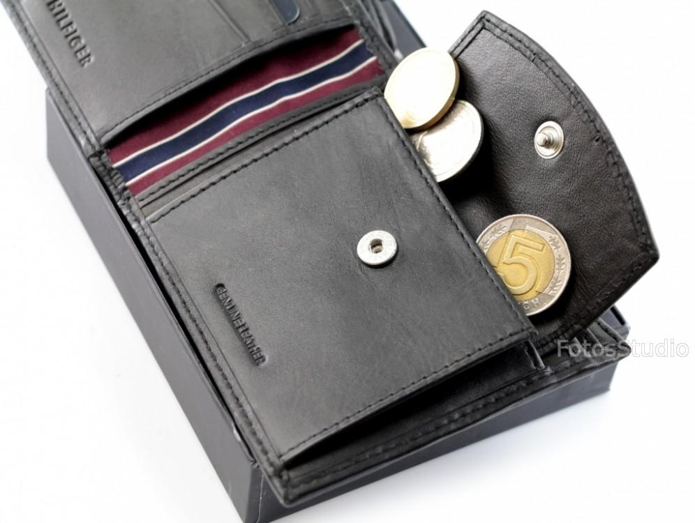 ede08286e03e3 Ekstremalne Sklep Portfel męski skórzany TOMMY HILFIGER z kieszenią na  monety  II-97