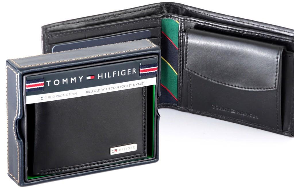 2f9ad99a9abce Portfel męski skórzany TOMMY HILFIGER z kieszenią na monety RFID gw ...