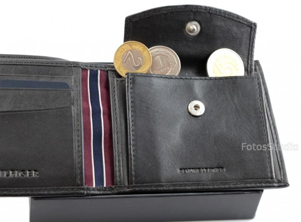 5d149a01b32bf ... Portfel męski skórzany TOMMY HILFIGER z kieszenią na monety gw ...
