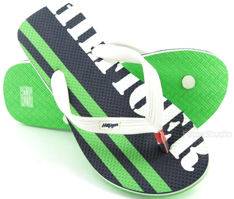 e17c733ca514c Klapki japonki buty meskie TOMMY HILFIGER 8 42 gw. Granatowy / Zielony /  Biały